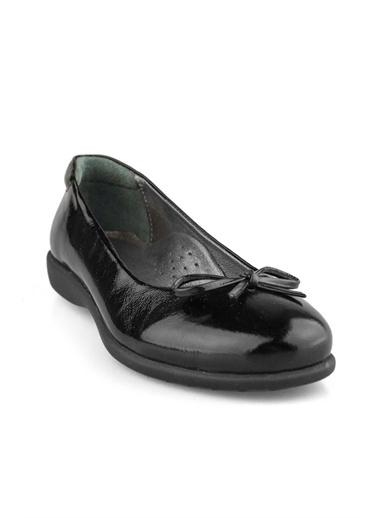 Cici Bebe Ayakkabı Rugan Deri Kız Çocuk Babet Siyah